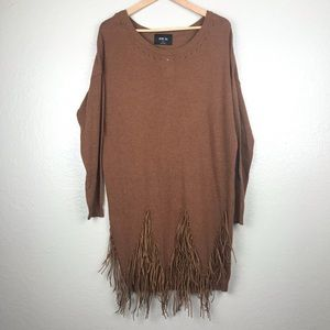 Fringe Sweater Dress